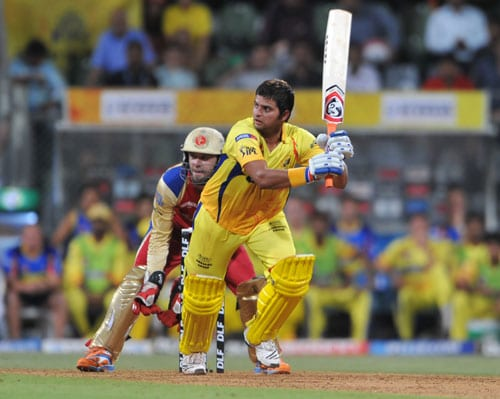 Last year it was MS Dhoni who steered his side to the semi-final playing a captain's knock against Kings XI Punjab. The Super Kings eventually lifted the trophy. This year surviving a few controversies because of owner N Srinivasan, Chennai are well on course and have made it to the final for the third time in four years. In the first play-off match against Royal Challengers Bangalore in Mumbai, Chennai were set a challenging target of 176 runs. This after Chris Gayle's roaring willow went unexpectedly silent. And once the openers Mike Hussey and Murali Vijay departed with just 7 runs on the board, it was left to Suresh Raina to steady the innings. The left-hander did not let his team down and smashed unbeaten 73 runs off 50 balls. He was well-supported by S Badrinath, Dhoni and Albie Morkel in Chennai's 6-wicket win.