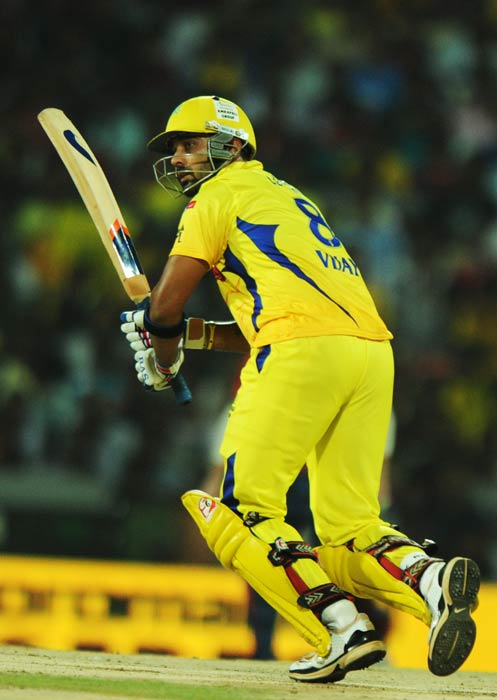 Murali Vijay plays a shot during the IPL Twenty20 match between Chennai Super Kings and Delhi Daredevils at the M.A. Chidambaram Stadium in Chennai. (AFP Photo)