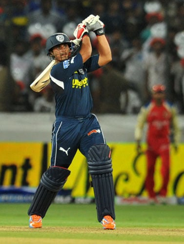 The Karnataka batsman has been the best act in a wobbly Deccan Chargers batting. He starred with a 61 off 35 balls, with 5 fours and 3 sixes against the mighty Royal Challengers Bangalore, taking his side to a fantastic total of 175. But, this wasn't his first good showing with the bat in IPL 4 as he top-scored for his side, with 48 off 40 against the Kolkata Knight Riders as well.