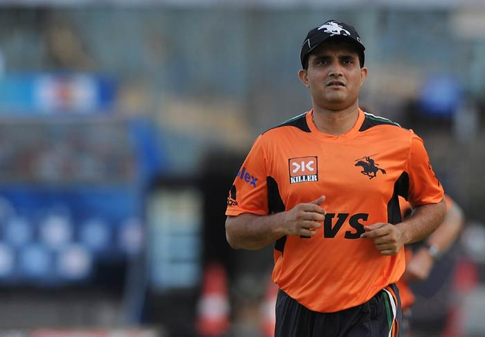 Sourav Ganguly got down to training straightaway after he was roped in by the Pune Warriors in place of injured Ashish Nehra. (AFP Photo)