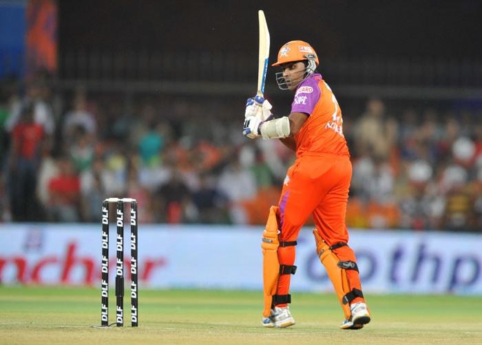 Mahela Jayawardene plays a shot during the IPL Twenty20 match between Kochi Tuskers Kerala and Kings XI Punjab at the Holkar Stadium in Indore. (AFP Photo)