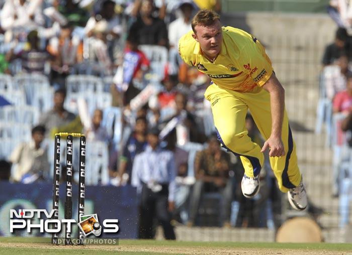 Doug Bollinger bowls during the IPL Twenty20 match between Chennai Super Kings and Royal Challengers Bangalore at the M.A. Chidambaram Stadium in Chennai. (AFP Photo)