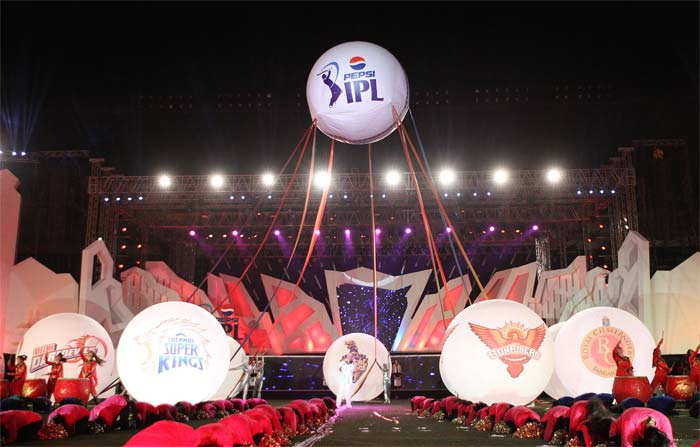 Giant balloons representing each team at the event.(BCCI Image)