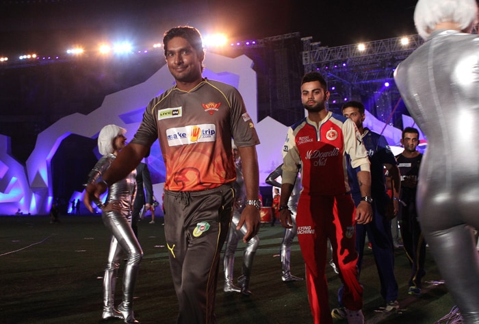 IPL skippers on their way to to sign the pledge.(BCCI Image)