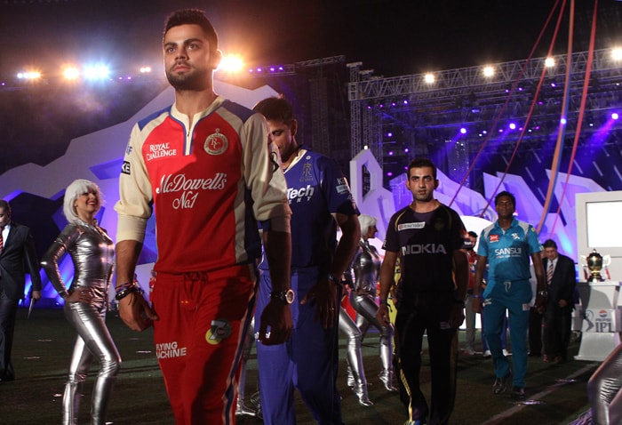 Virat Kohli along with other captains walking towards the stage to sign the pledge(BCCI Image)