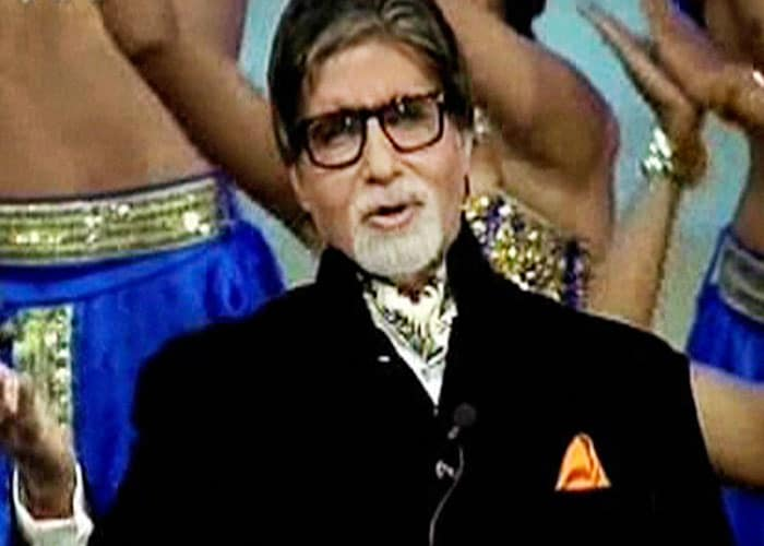 Amitabh Bachchan recited poems at the star-studded opening ceremony of the Indian Premier League - Season 5 at the YMCA ground in Chennai. (PTI image)