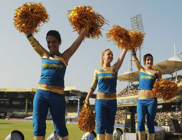 Their cheering has a royal touch, at least as far as their team name goes. The Rajasthan Royals won the inaugural edition of IPL and these girls got the loudest cheer,perhaps, at the grounds.