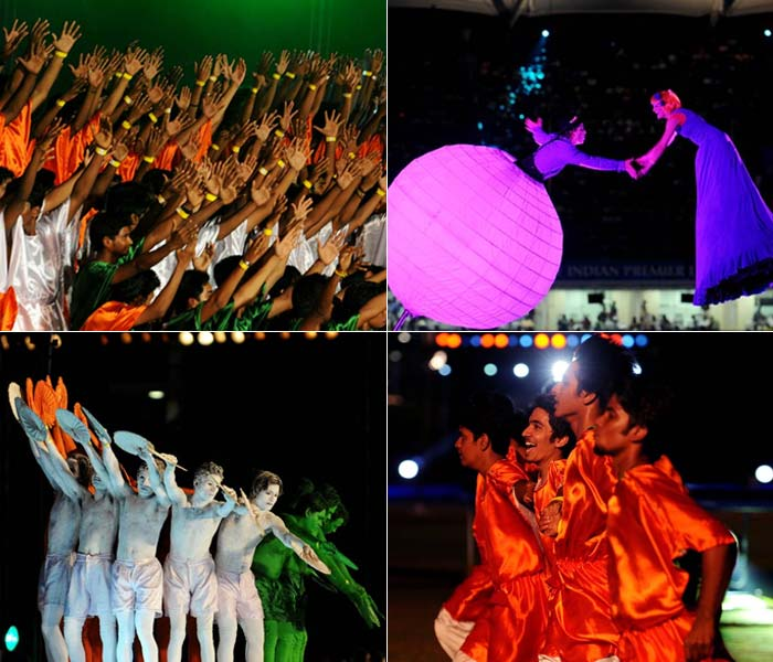 The Indian Premier League got off to a glitzy start on Friday at Chennai. Stunning performances, vibrant colours and dazzling fireworks ushered the event in. (AFP PHOTOS)