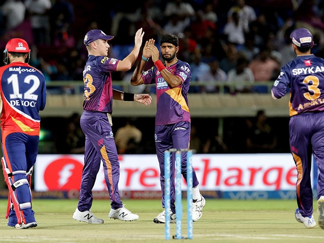 IPL: RPS Achieve 19-Run Win Via D/L Method to Dent DD's Play-Off Chances
