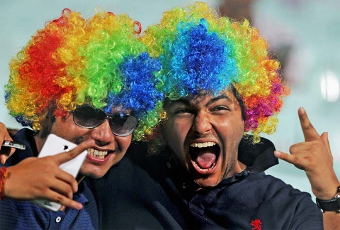 With the 2013 edition of the Indian Premier League getting underway, a look at how the fans and celebs had their fun from the stands while the players enjoyed on the field. (PTI image)