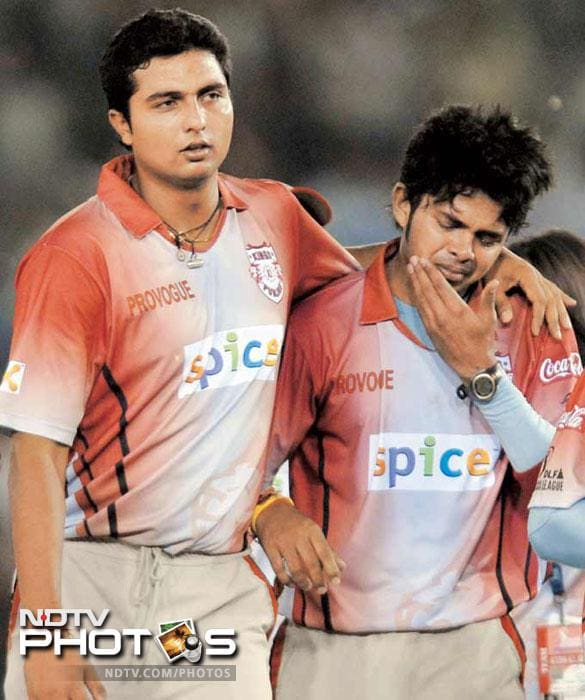<b>Harbhajan slaps Sreesanth:</b> It happened in the very first season of the IPL and perhaps was the first controversy of this tournament. In April 2008 at Mohali, after a match between Mumbai Indians skipper Harbhajan Singh slapped Kings XI Punjab pacer Sreesanth.