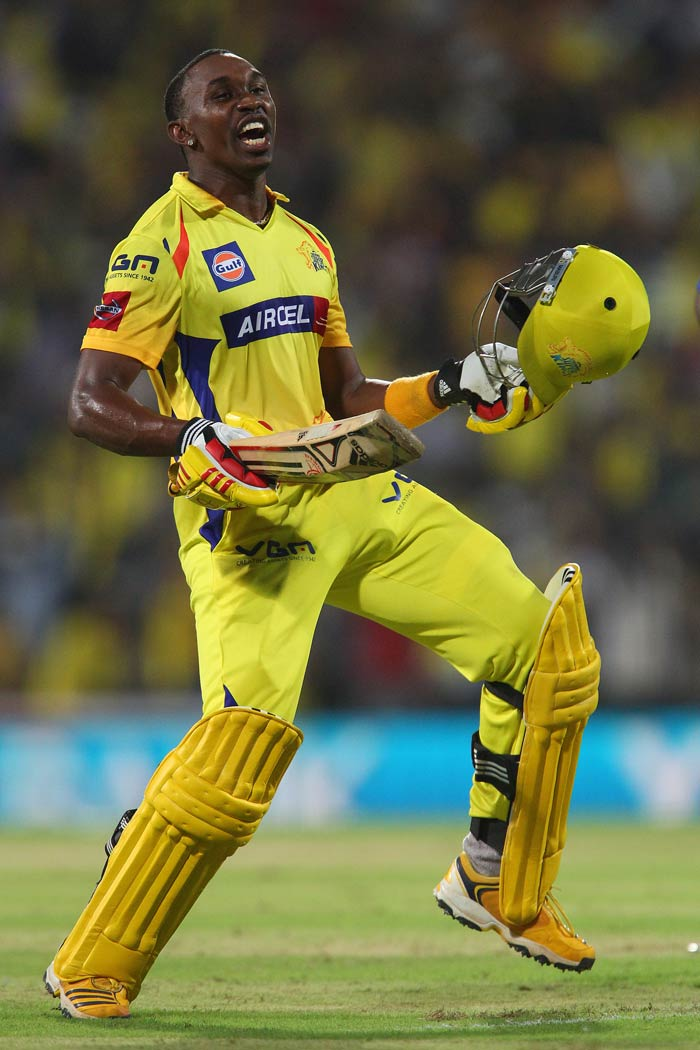 With dancing skills to match, Dwayne Brave brings West Indian flair to the CSK line-up, with unorthodox strokeplay and deceptive medium-pace. (BCCI image)