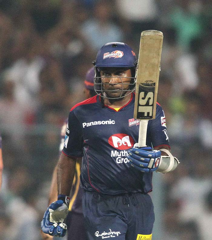 Mahela Jayawardena provided some sort of support to Delhi's innings. He hit 8 boundaries to resist the hosts. (BCCI image)