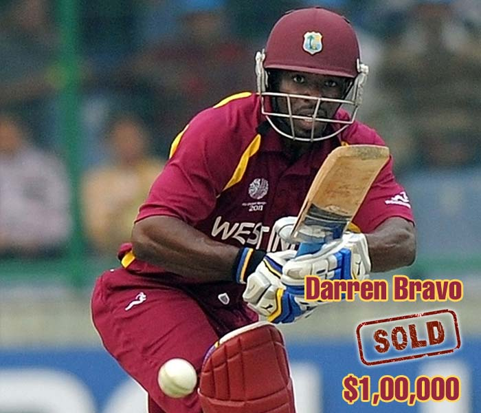 His much hyped similarity to great Brian Lara did not excite bidders the first time around but the Deccan Chargers laid their faith in the stylish left hander in the second round of bidding. He was sold for his base price of $100,000.