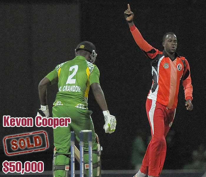 He has been picked, dropped for two years and then doubted over his action, but he is just 23 years old. West Indies' Kevon Cooper has made the headlines and now the Rajasthan Royals side too for $50,000.