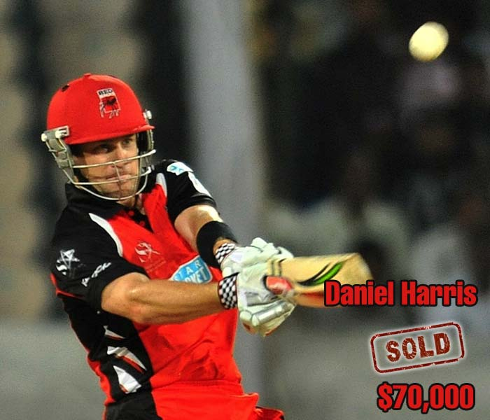 Daniel Harris' strike rate in domestic T20s in Australia is over 140 and that was enough to invite a $70,000 bid from the Deccan Chargers.