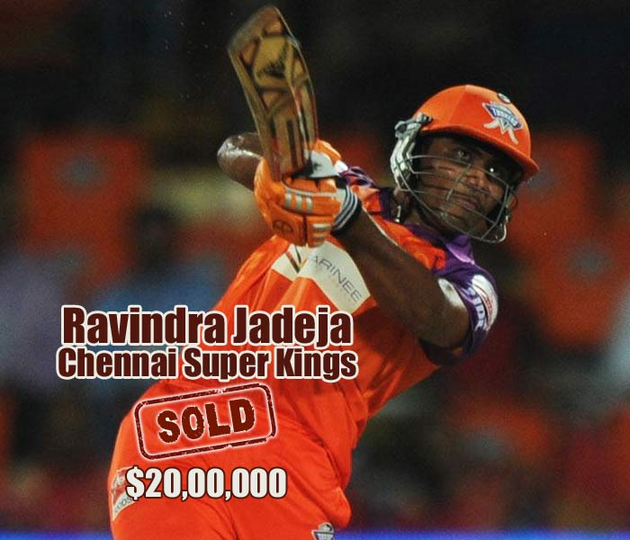Two-way battle ensured that Ravindra Jadeja made merry in the auction. He was the highest paid-for with his eventual price tag at over $2 million, finally going to Chennai Super Kings after a tie breaker.