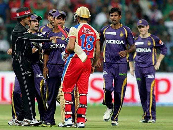 With the recent on-field spat between Delhi and Indian teammates Virat Kohli and Gautam Gambhir it is evident that sometimes the intensity of the tournament gets the better of the players. A look back at similar incidents when players went out of control.