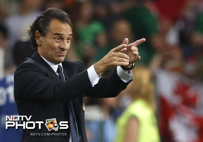 """""""We suffered in the last few minutes because we were waiting for the result in the other game,"""" Italy coach Cesare Prandelli said. """"We have got through this group which wasn't easy with Croatia, Spain and even Ireland who, even though they were out, gave everything they could."""""""