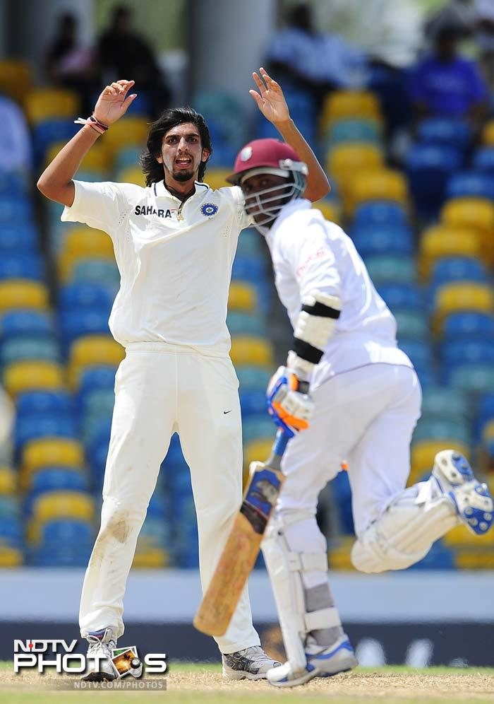 Ishant Sharma was the star for India as he grabbed 6 wickets in West Indies' first innings to give India a slender 11-run lead on Day 3 of the 2nd Test. (AFP Photo)
