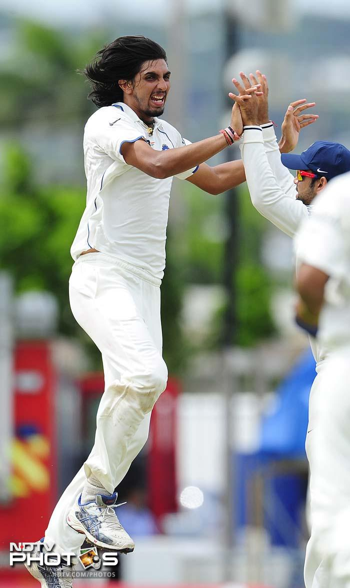 The Delhi pacer achieved the feat in his 33rd Test. (AFP Photo)