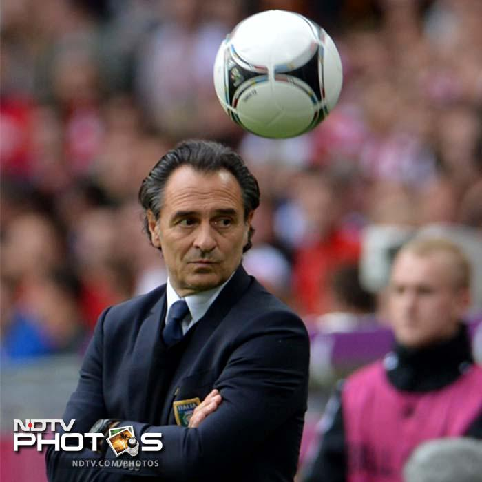 Italian coach Cesare Prandelli would have been looking to see a much more improved and attacking Italy side and his players did not disappoint him. The Azurris began the game well with multiple attacks on the Croatian goal. (AFP Photo)