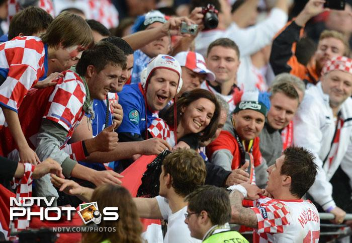 Croatia held Italy to a 1-1 draw in a Group C match at the Euro 2012. It goes rather unnoticed but Croatia are ranked higher than Italy in FIFA rankings at 8th to Italy's 12th. (AFP Photo)
