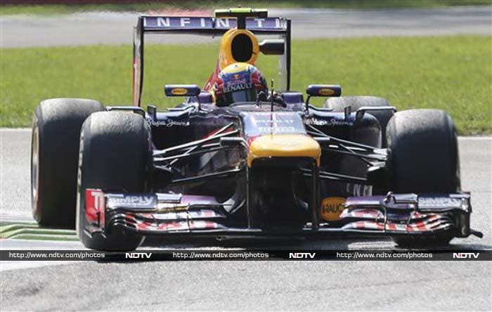 It will be a Red Bull one-two at Monza as Vettel's teammate Mark Webber will start from P2.