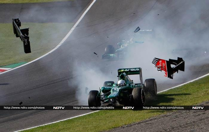 The race though was not free from unfortunate events. <br><br>Caterham driver Giedo van der Garde of the Netherlands crashed in the first corner of the race.