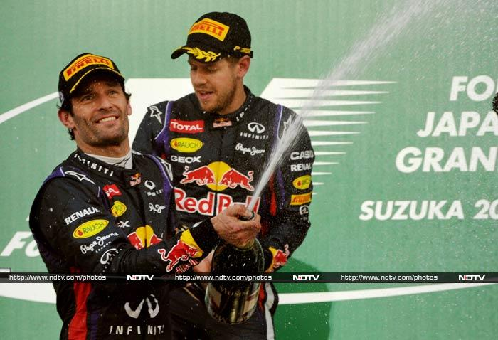 There is absolutely no stopping Sebastian Vettel. <br><br>The Red Bull driver was precise, aggressive and focused as he overtook his teammate Mark Webber to win his fifth straight race, at Suzuka. (Images courtesy: AFP and AP)