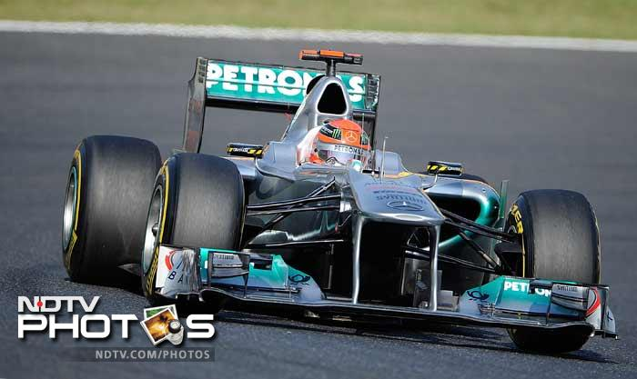 Mercedes' Michael Schumacher was seventh ahead of Renault duo Bruno Senna and Vitaly Petrov, with Japan's Kamui Kobayashi 10th in his Sauber.