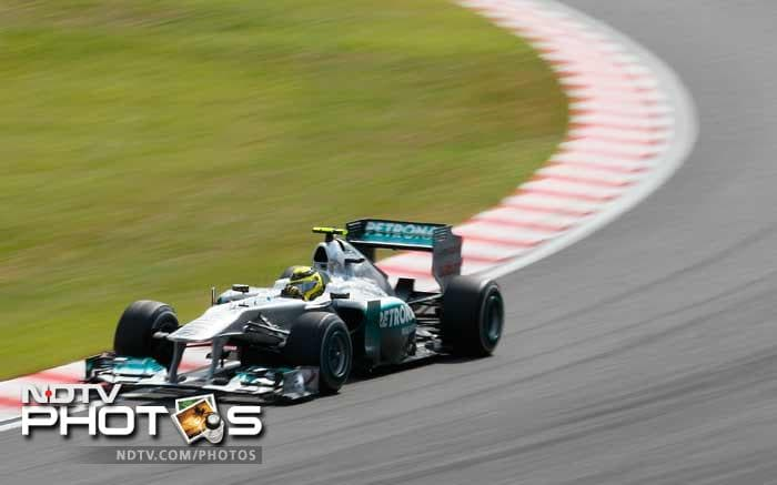 German Nico Rosberg of Mercedes was a shock elimination in the first 20-minute period of qualifying after failing to record a timed lap because of a hydraulics failure. It was the first time in 15 races this season that the German failed to reach the top 10.