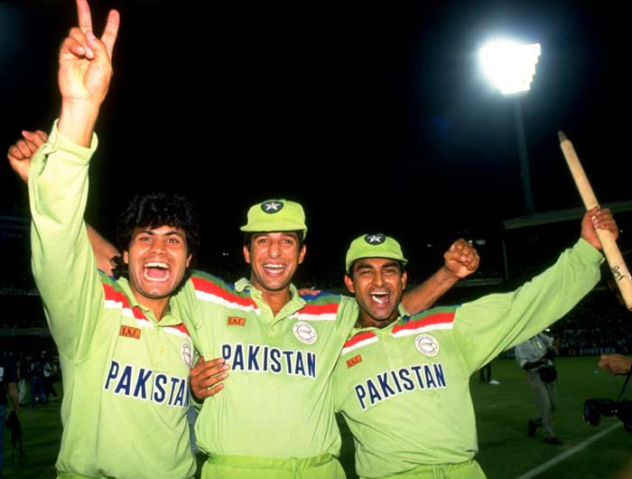 A light shade of green identified Pakistan in the initial years. Perhaps colour was auspicious for the team then or maybe it was just brilliant cricket as the team lifted the trophy in the tournament that brought in coloured jerseys.