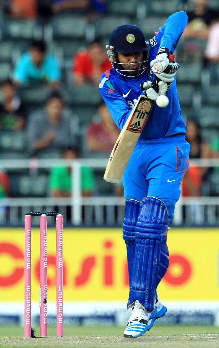After Virat Kohli fell for 31, India lost wickets in a flurry as Rohit Sharma was run out for 18.