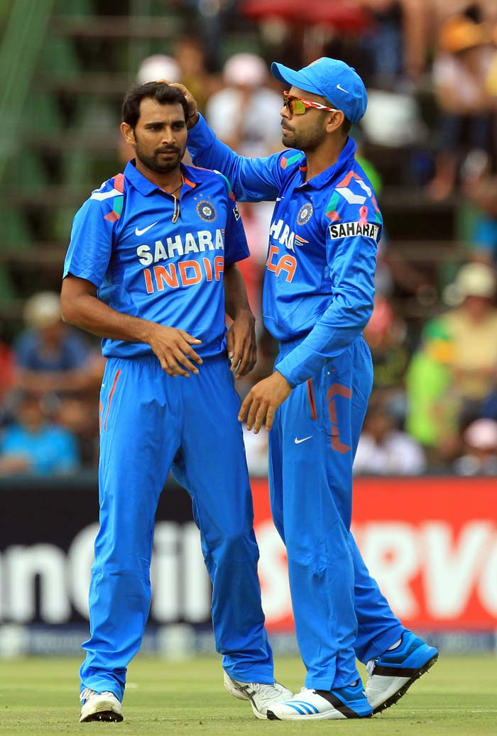 Mohd Shami was the best of the Indian bowlers picking up 3 for 68 as South Africa ended with 358 for 4.
