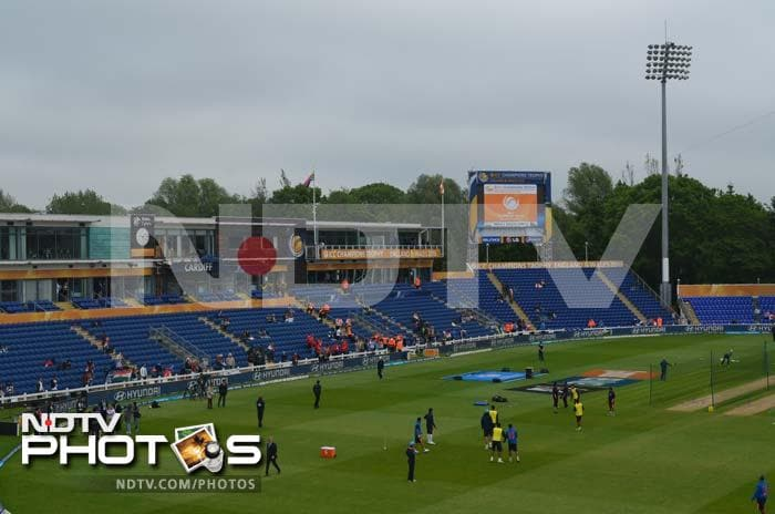 A bird's-eye view of the Swalec Stadium ahead of the India vs South Africa Champions Trophy opening tie in Cardiff.