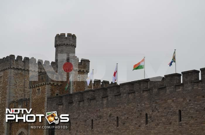 The Indian tricolour atop the Cardiff Castle. Cardiff is one of the three host venues for the last edition of the ICC Champions Trophy.