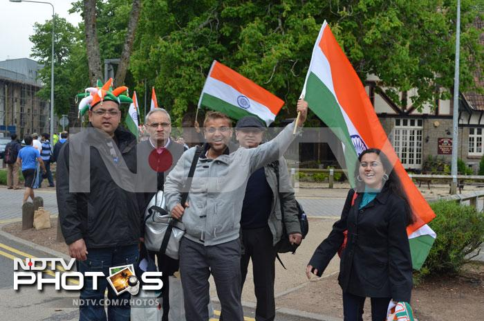Jackets of all shapes and sizes can be seen worn by the Indian fans in Cardiff. Many of them will be queuing up for the India vs Pakistan marquee clash on June 15 in Birmingham.