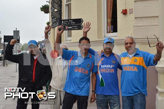 Fans of all ages were upbeat before the start of the ICC Champions Trophy opener between India vs South Africa at Sophia Gardens, Cardiff.
