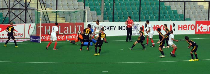 Belgium (in black) had romped to a 5-0 win over Egypt in another pool match on Saturday.