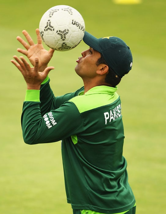 Kamran Akmal will make a very good footballer because he will never be required to use his hands to catch the ball.