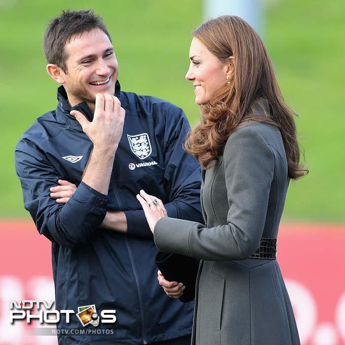 Frank Lampard seems to have shared a joke of sorts with Kate here.