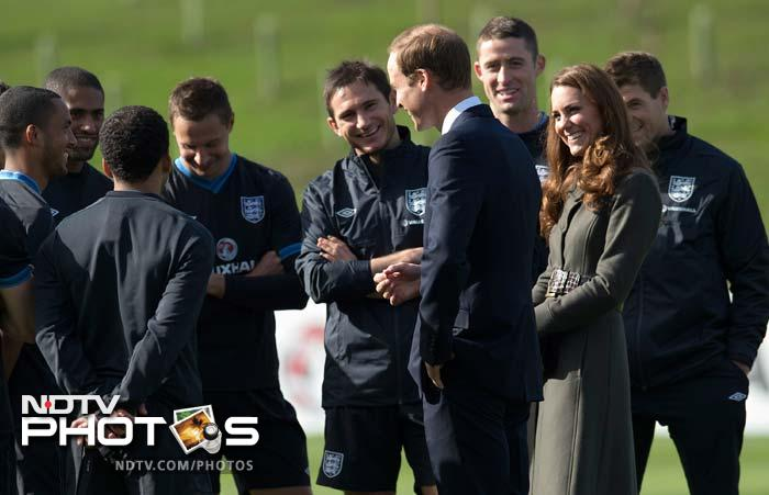 William and Kate watched players train at the facility's official opening.