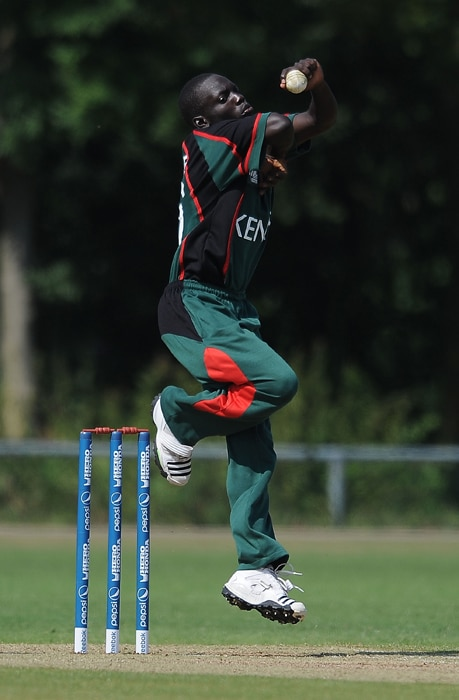 <b>SHEM NGOCHE</b><br><br> <b>Age: </b>21.<br><b>Role: </b>Right-hand batsman, Slow left-arm spinner<br> <b>Stats: </b>ODIs 5, Runs 15, Highest 7, Average 5, Strike-Rate 50, Centuries 0, Fifties 0, Catches 0, Wickets 4, Best-bowling 2-28, Average 35.75, Economy-Rate 3.40<br><br> Another youngster who forced his way into the senior team from the U-19. His slow left-arm spin has been lacking with the team since the retirement of Asif Karim in 2003. A member of a strong cricketing family that includes Nehemiah Odhiambo, Lameck Onyango (current team assistant coach) and James Ngoche.(Photo: Getty Images)