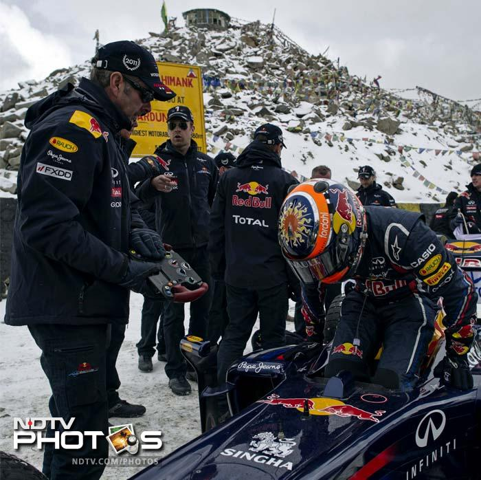 Red Bull Racing became the first Formula One team to have ever managed to transport, fire-up and drive an F1 car on what is arguably the most challenging driving terrain in the world.