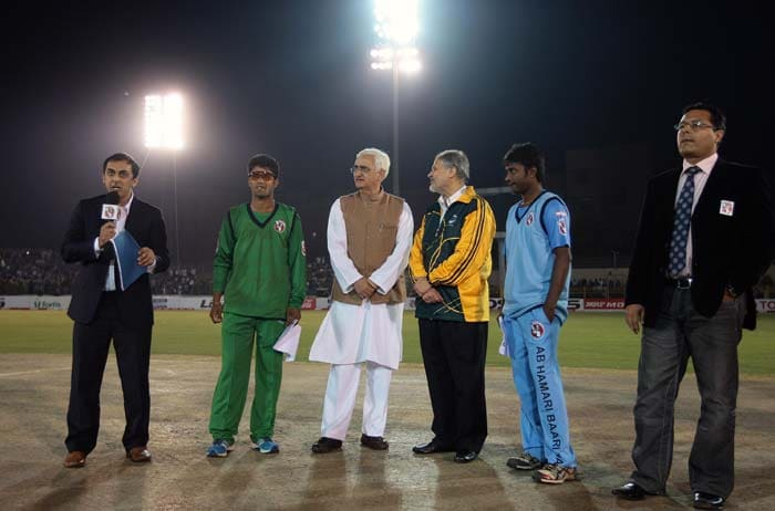 "Having grown up at Jamia, in south Delhi, Salman Khurshid ""had a party"" being the guest of honour at the Toyota University Cricket Championship between Jamia and Madras University. A look at his visit here."