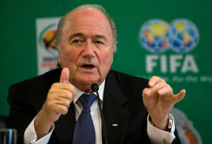 South African president Jacob Zuma will kick-off proceedings alongside FIFA president Sepp Blatter. (AFP Photo)