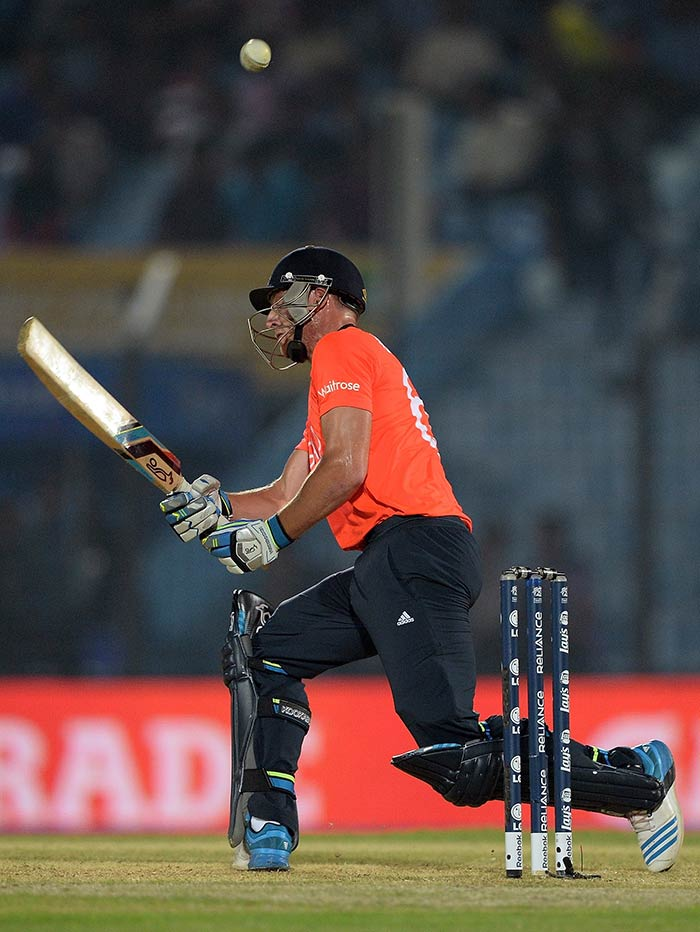 Jos Buttler came in the middle-order and helped himself to a 23-ball 32.