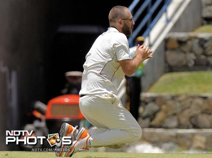 Daniel Vettori: While he is not in the Kiwi squad for the Test series, the veteran player's influence cannot be discounted. He has been named in the squad for World T20 and if he can recover from his injuries, can prove to be more than a handfull. (AFP images and AP Photo/Digicel Cricket.com)