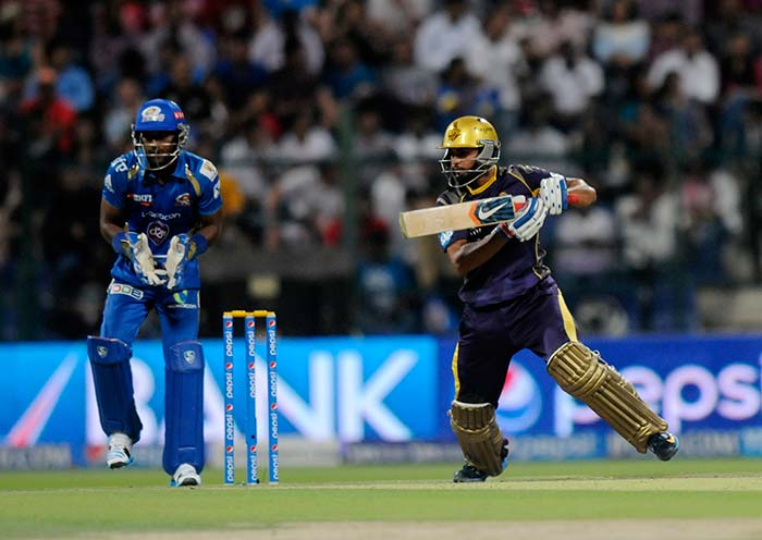 Manish Pandey scored 64 and was involved in a 131-run stand with Jacques Kallis for the second wicket.